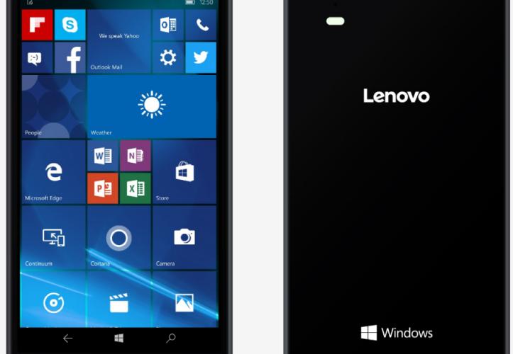 Lenovo anunció su primer smartphone con Windows 10 Mobile
