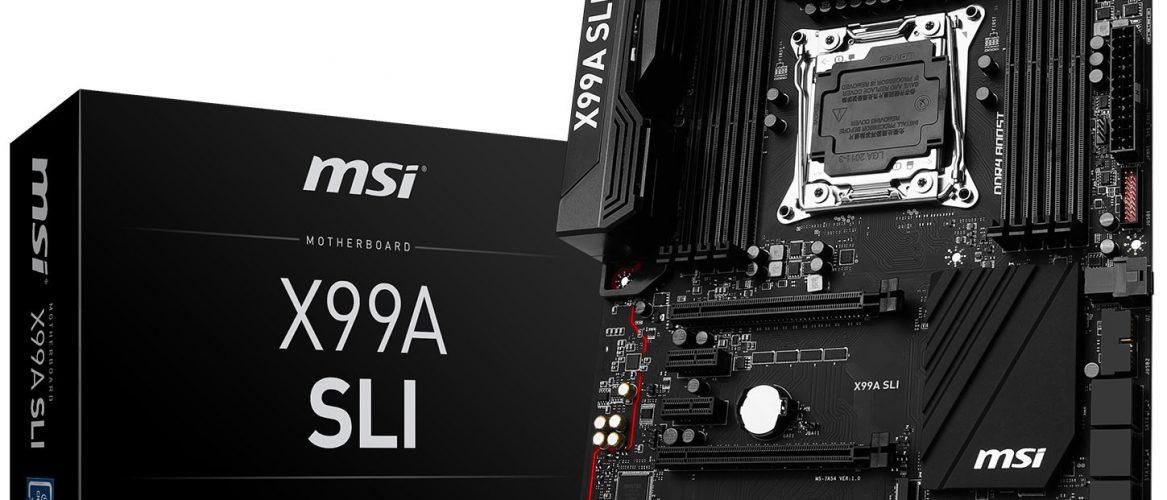MSI presenta su motherboard X99A-SLI