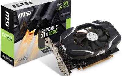 MSI anunció la GeForce GTX 1060 OCV3 de 3GB