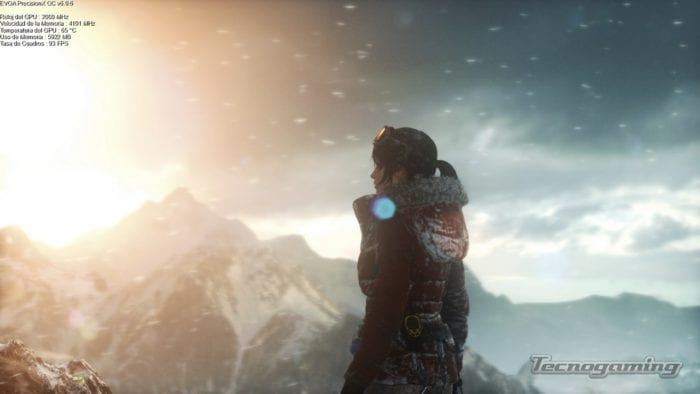 Rise of the Tomb Raider Benchmark con la aplicación EVGA PrecisionX OC