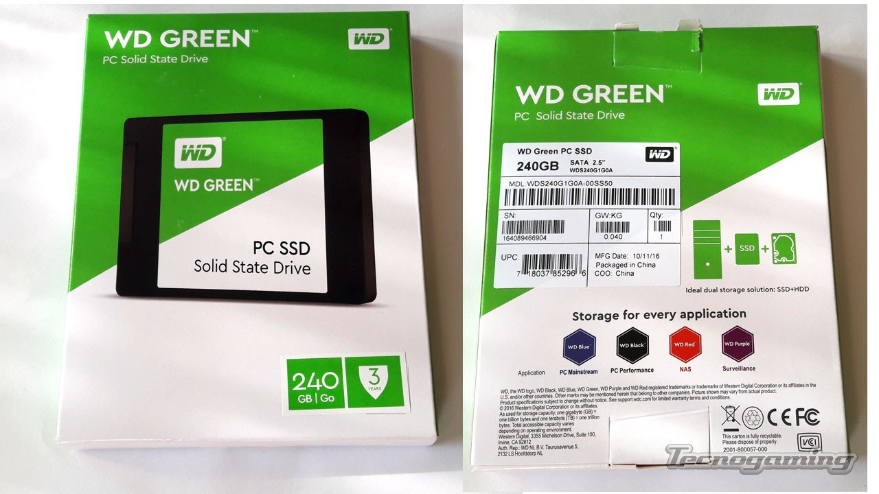 Wd Green 240gb Ssd Tecnogaming 25 Sata 240 Tg 01