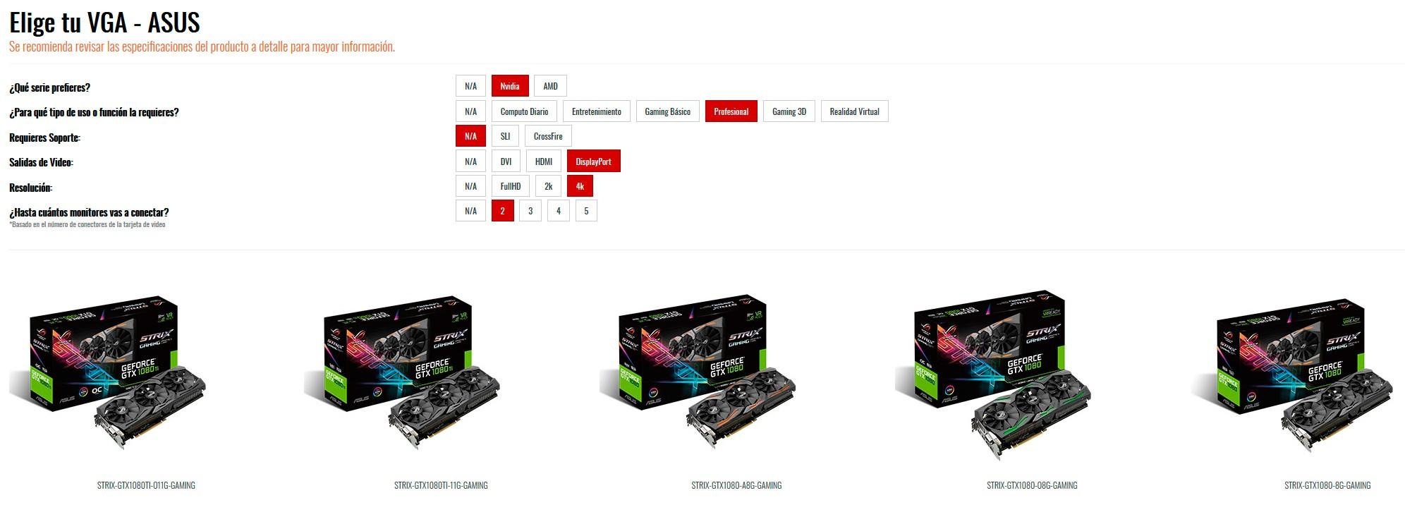 Resultado de imagen para ASUS te ayuda a elegir la Tarjeta de Video que necesitas.