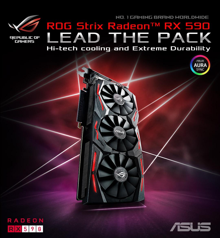 Resultado de imagen para ROG Strix Radeon RX 590